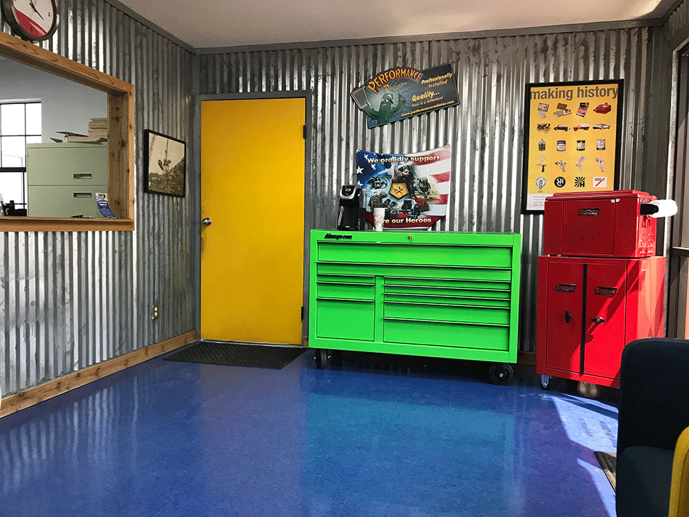 Fix A Wreck office with green drawer